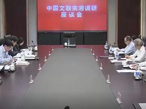 中国文联来湘调研文艺工作
