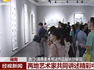 澳门·湖南美术书法作品展长沙展览 两地艺术家共同讲述精彩中国故事